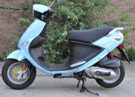 2009 Genuine Buddy 125, Blue Side